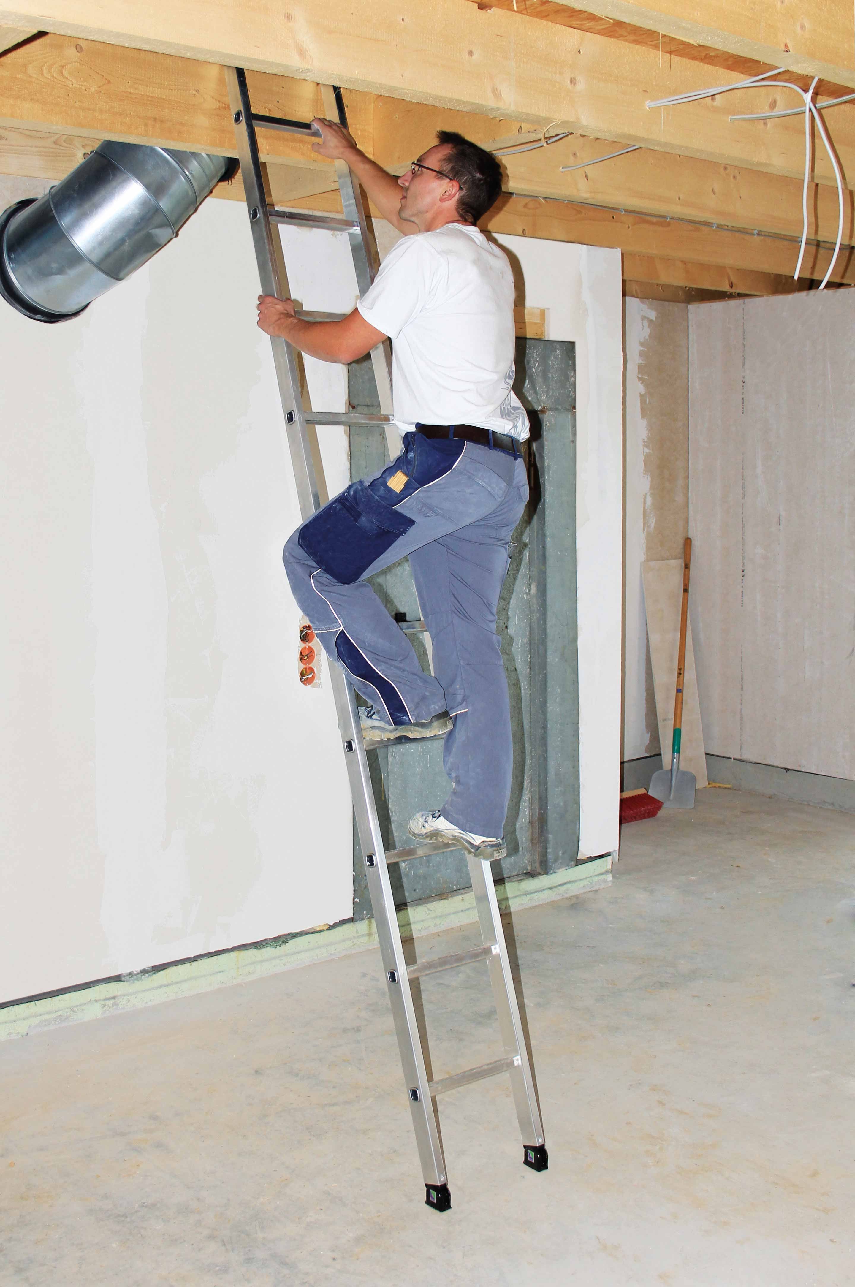 aluminium anlegeleiter 9 12 14 sprossen. Black Bedroom Furniture Sets. Home Design Ideas